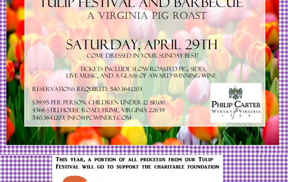 The Tulip Festival Pig Roast, Saturday April 29th