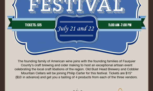 3rd Annual Founders' Wine, Beer and Cider Festival