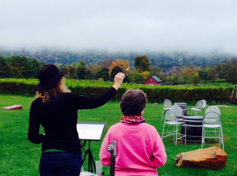 En Plein Air Weekend: The Art of Winescapes
