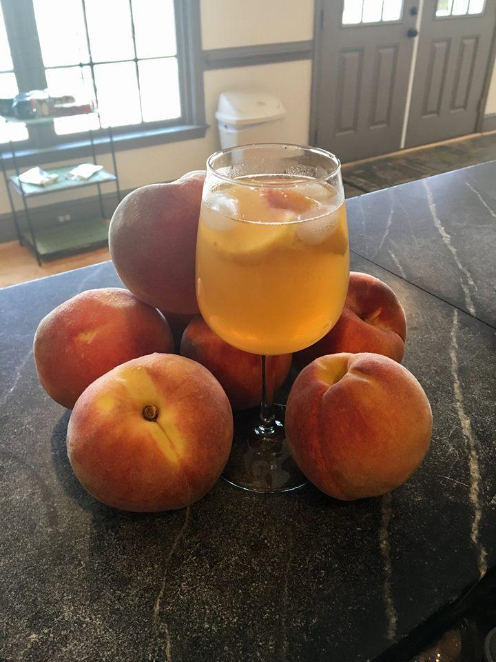 Peach and Wine Summertime Jubilee!
