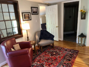 Remodeled Living Room of the Farmhouse Suite at Valley View Farm
